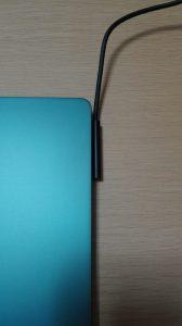 Surface Laptop コバルトブルーの電源つけ方上向き