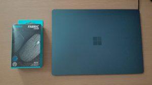 箱とSurface Laptopを並べてみる