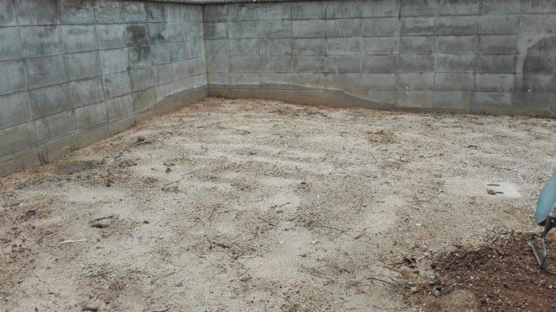 庭木撤去後のお庭